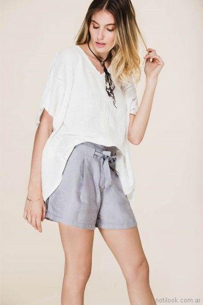 8f5cbdc67 short de lino con lazo tibetano store primavera verano 2018 | shorts ...