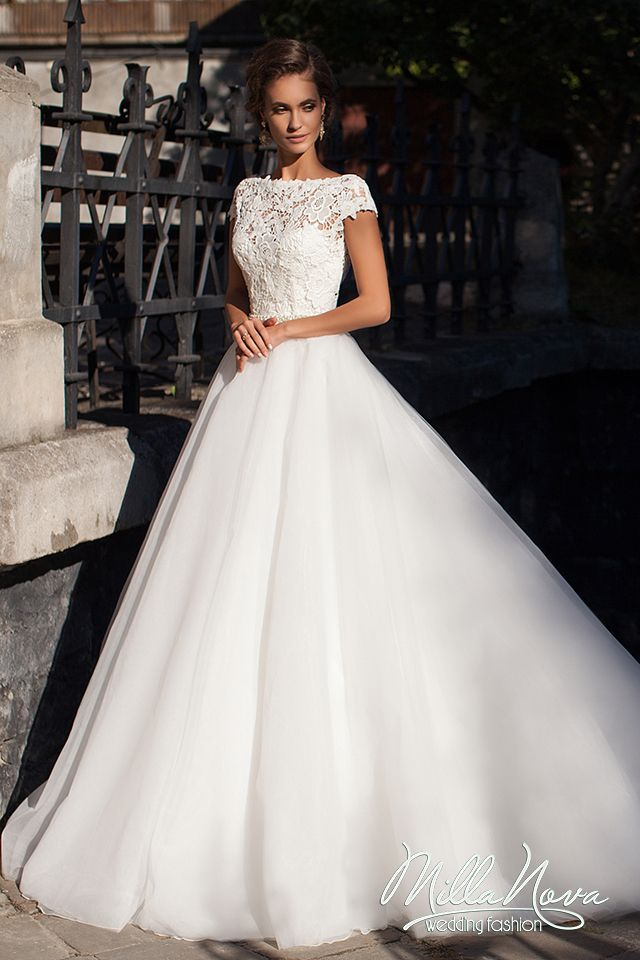 Find More Wedding Dresses Information About Elegant Boat Neck 2016 White Lace Bodice Court