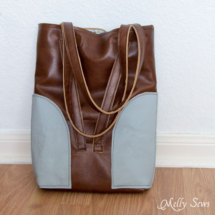 Leather Tote Bag with Convertible Strap | Leather totes, Tote bag ...