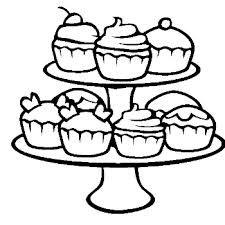 strawberry cupcake kleurplaat zoeken gratis