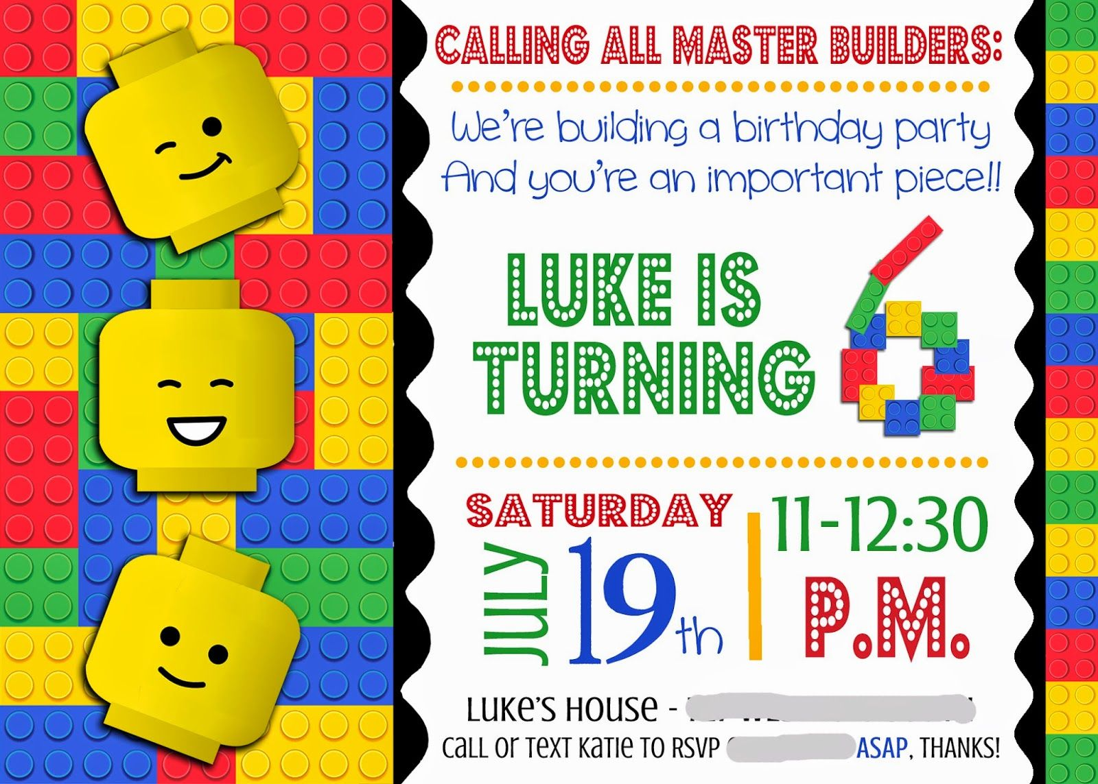 lego party invitation printable - Google Search | lego Party ...