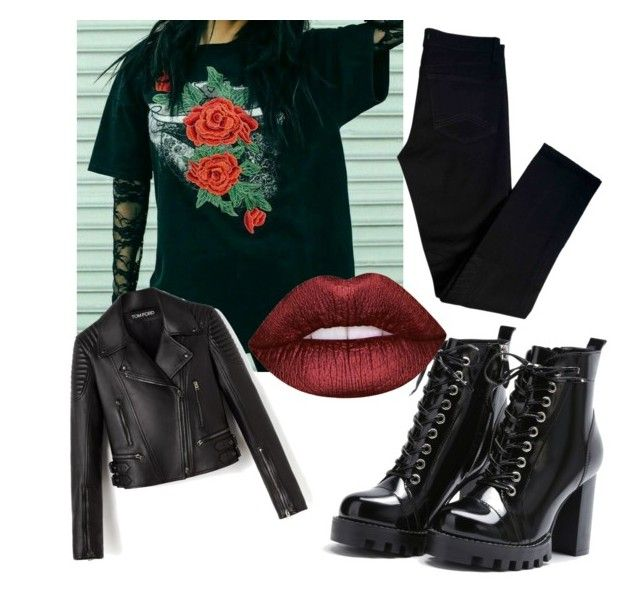 Untitled #3 by tamaraapaulaa on Polyvore featuring polyvore fashion style J Brand Lime Crime clothing