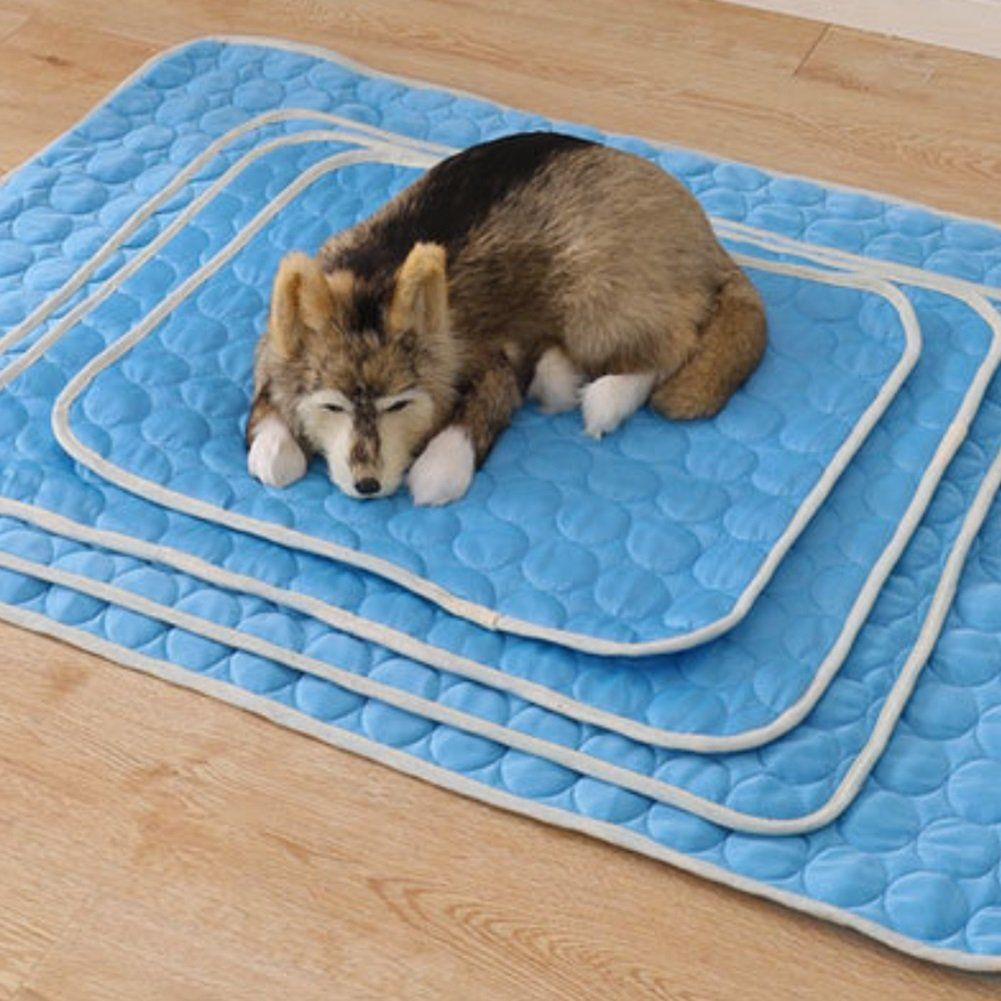 Dora Bridal Cooling Mat Pet Cool Pad Fast Self Cooling Dog Bed Cat Kennel Mat Nontoxic Easy Clean Blue 6250cm You Can Get M Cool Dog Beds Cat Kennel