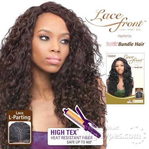 Outre Synthetic L Part Lace Front Wig Batik Peruvian Bundle Hair Futura 8206