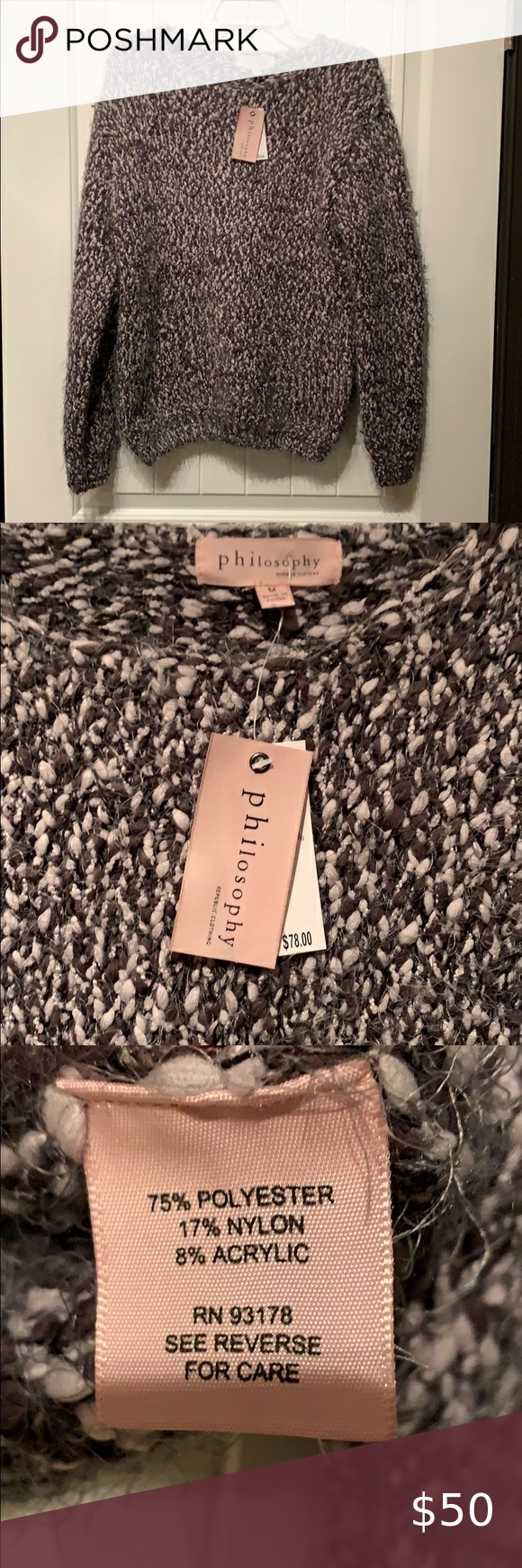Copy Philosophy Republic Clothing Sweater Beautiful Grey Combo Philosophy Sweater Brand New With Tags Si Sweater Outfits Sweater Brands Sweaters For Women