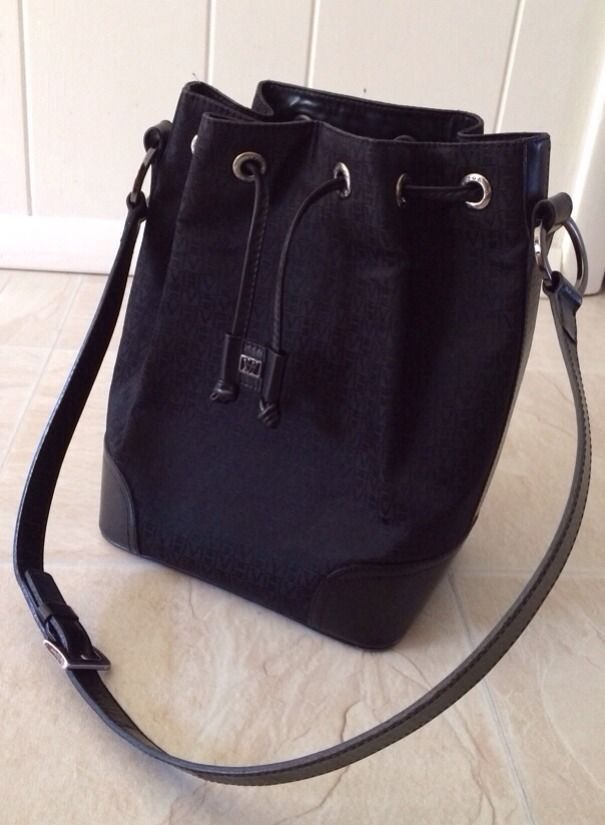 Designer Victor Hugo Handbag Shoulder Bag Purse Black Signature Rare