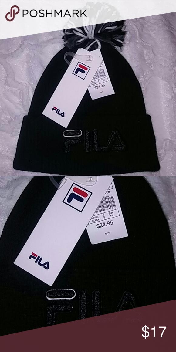 Fila Beanie Black Fila pom beanie Fila Accessories Hats 3103fd6d3f52