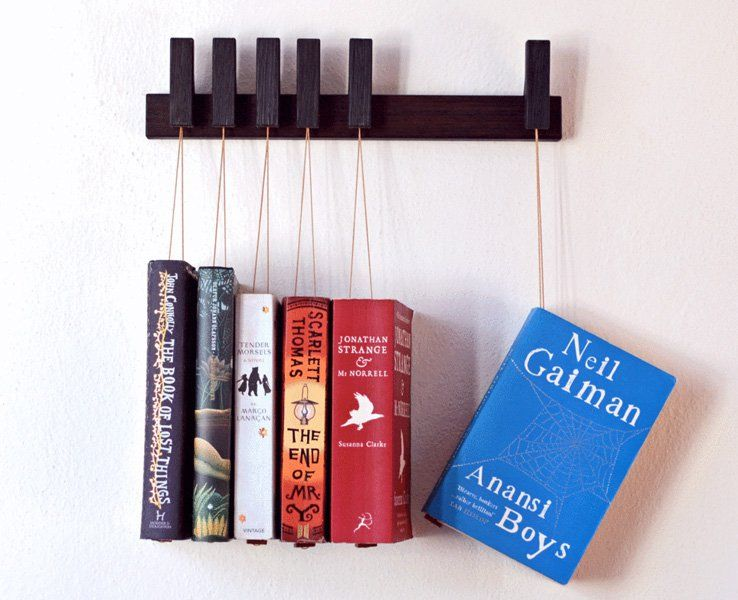 Hanging Book Rack feature-hanging-book-rack-05 | know how to | pinterest | book