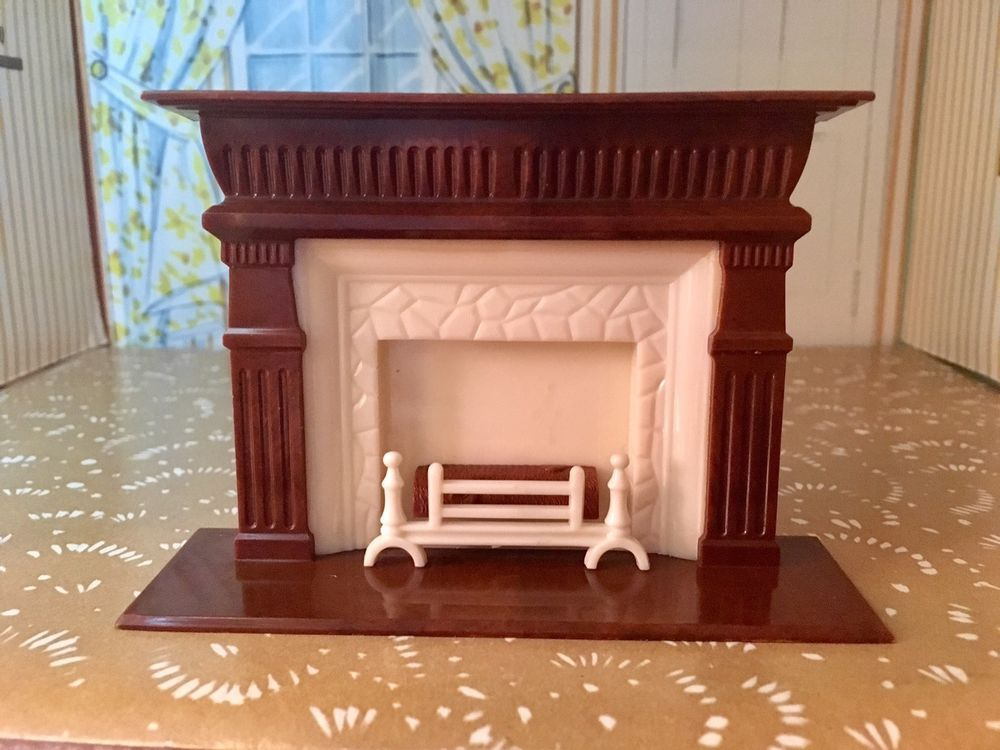 Reliable Miniature Fireplace Vintage Dollhouse Furniture 116