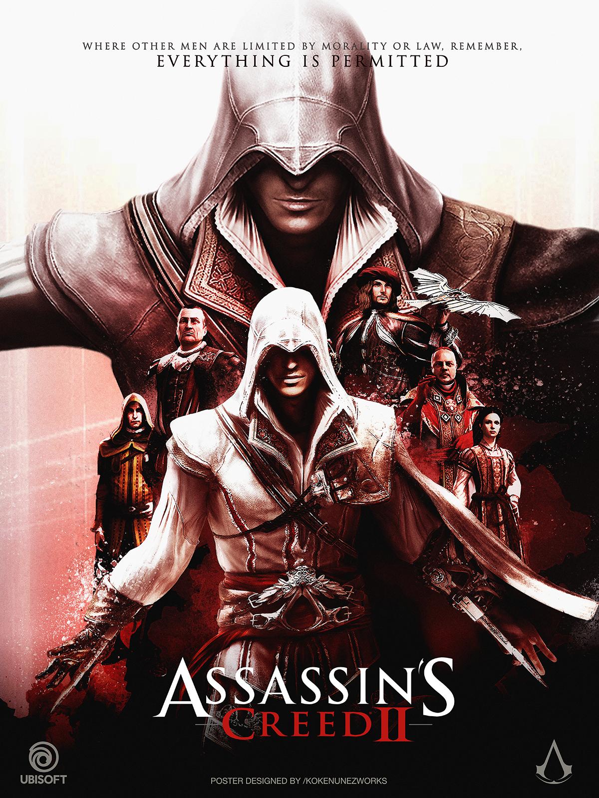 Assassin S Creed 2 Ezio S Trilogy Alternative Poster Posterspy Assassins Creed 2 Assassin S Creed Hd Assassin S Creed Wallpaper