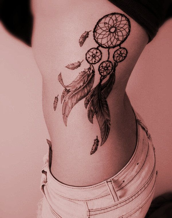 Best 55 Sexy Dreamcatcher Tattoo Designs for Girls