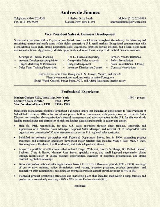 Business Development Resume Resume Examples Pinterest Sample