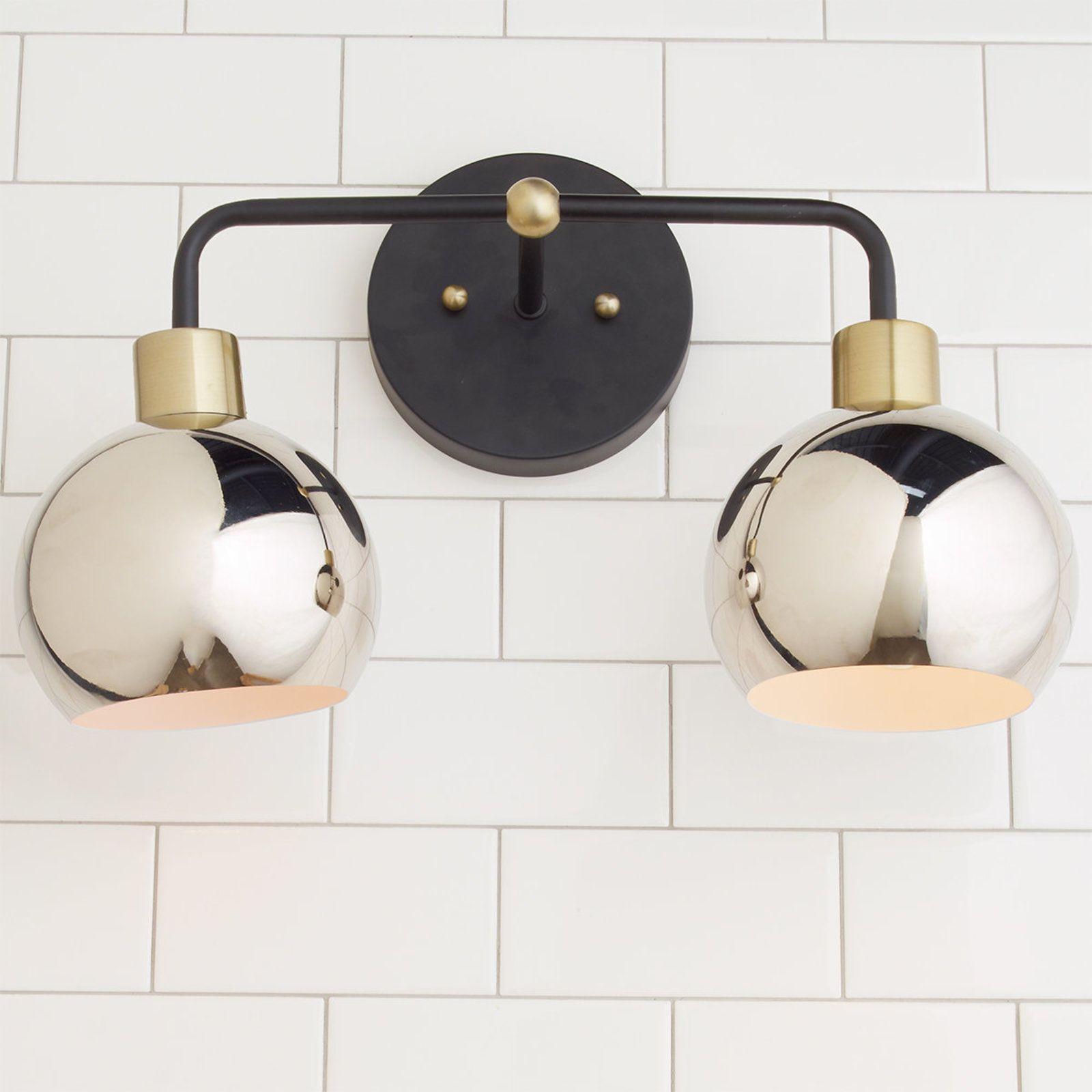 Young House Love Bubble Vanity Light 2 Light Vanity Lighting Bathroom Light Fixtures Mid Century Modern Lighting Fixtures
