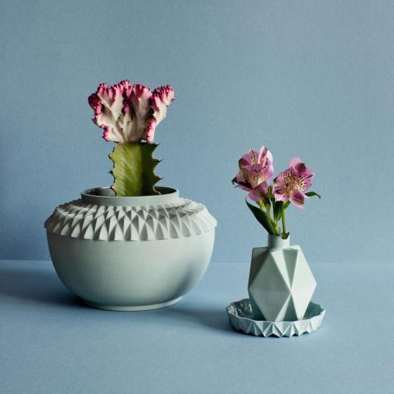 Geometric pastel vases - Lenneke Wispelwey