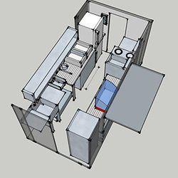 Resultado de imagen para food truck kitchen layout food for Food truck design layout