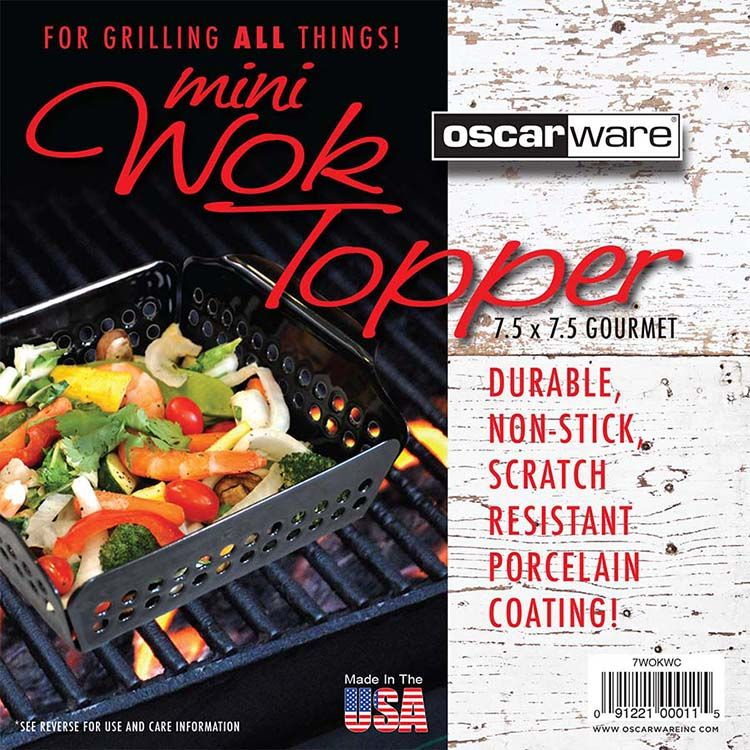 PRODUCT LABEL OscarWare Grill Toppers Grill topper