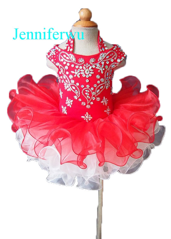 (99.80$)  Watch now - http://ai69x.worlditems.win/all/product.php?id=32794198680 - stone beaded  baby girl and flower girl pageant dress 1T-6T G0769-2