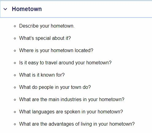 how to describe your town