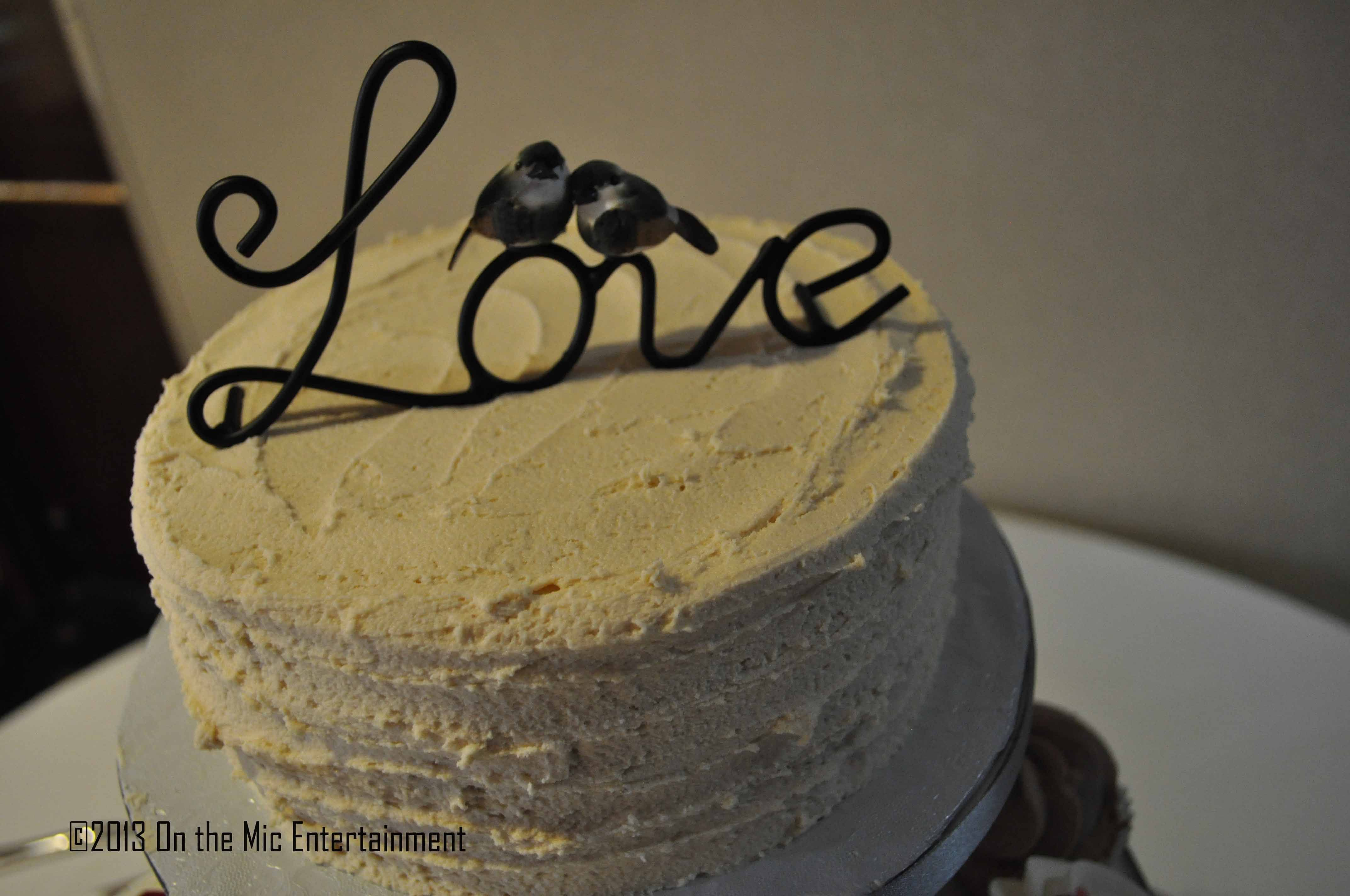 Very cute cake topper! Says it all!