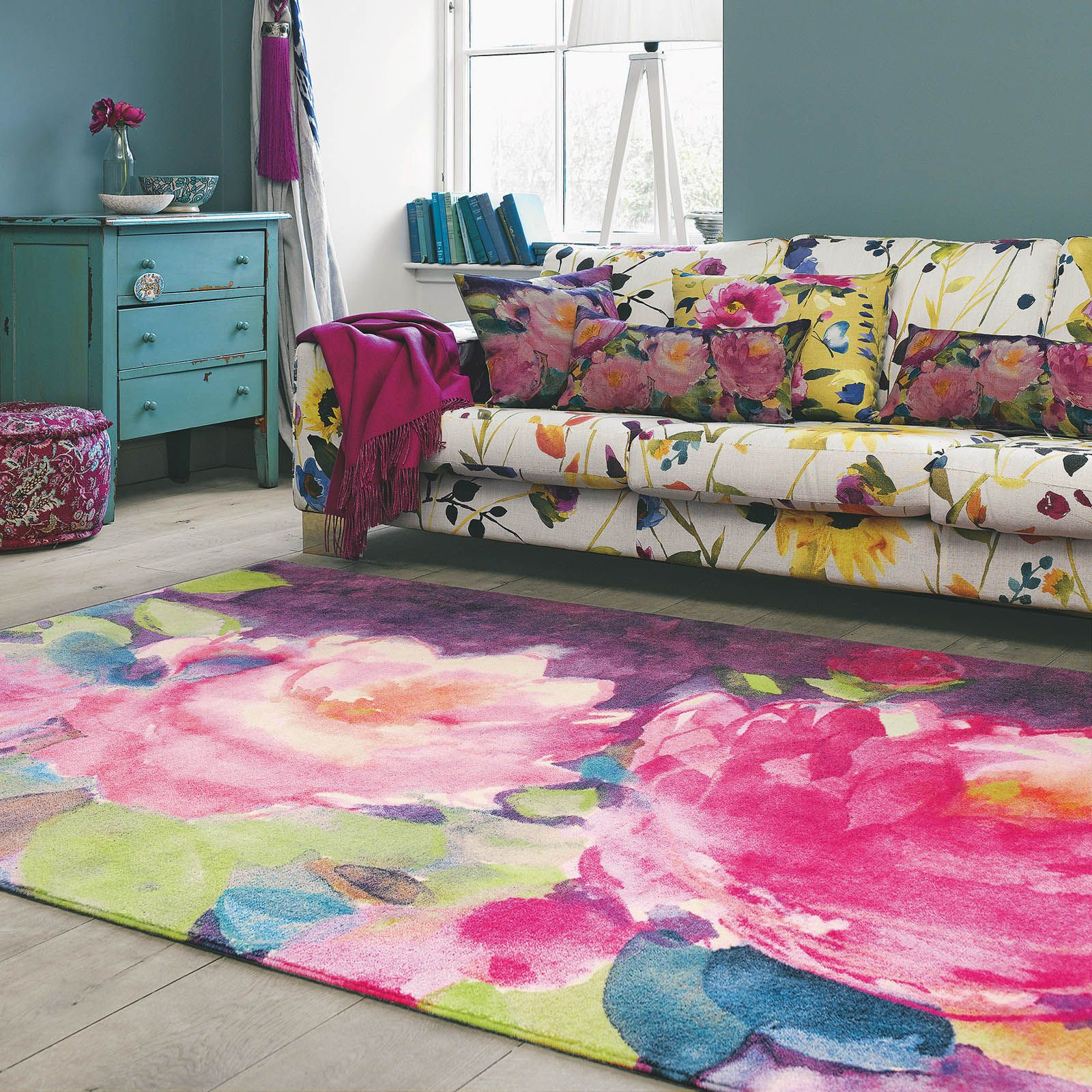 The Cait Rug By Bluebellgray Features A Cluster Of Winter Peonies