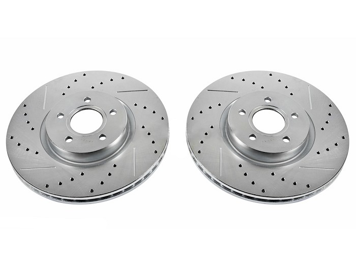 Power Stop AR85153XPR Front Evolution Drilled /& Slotted Rotor Pair