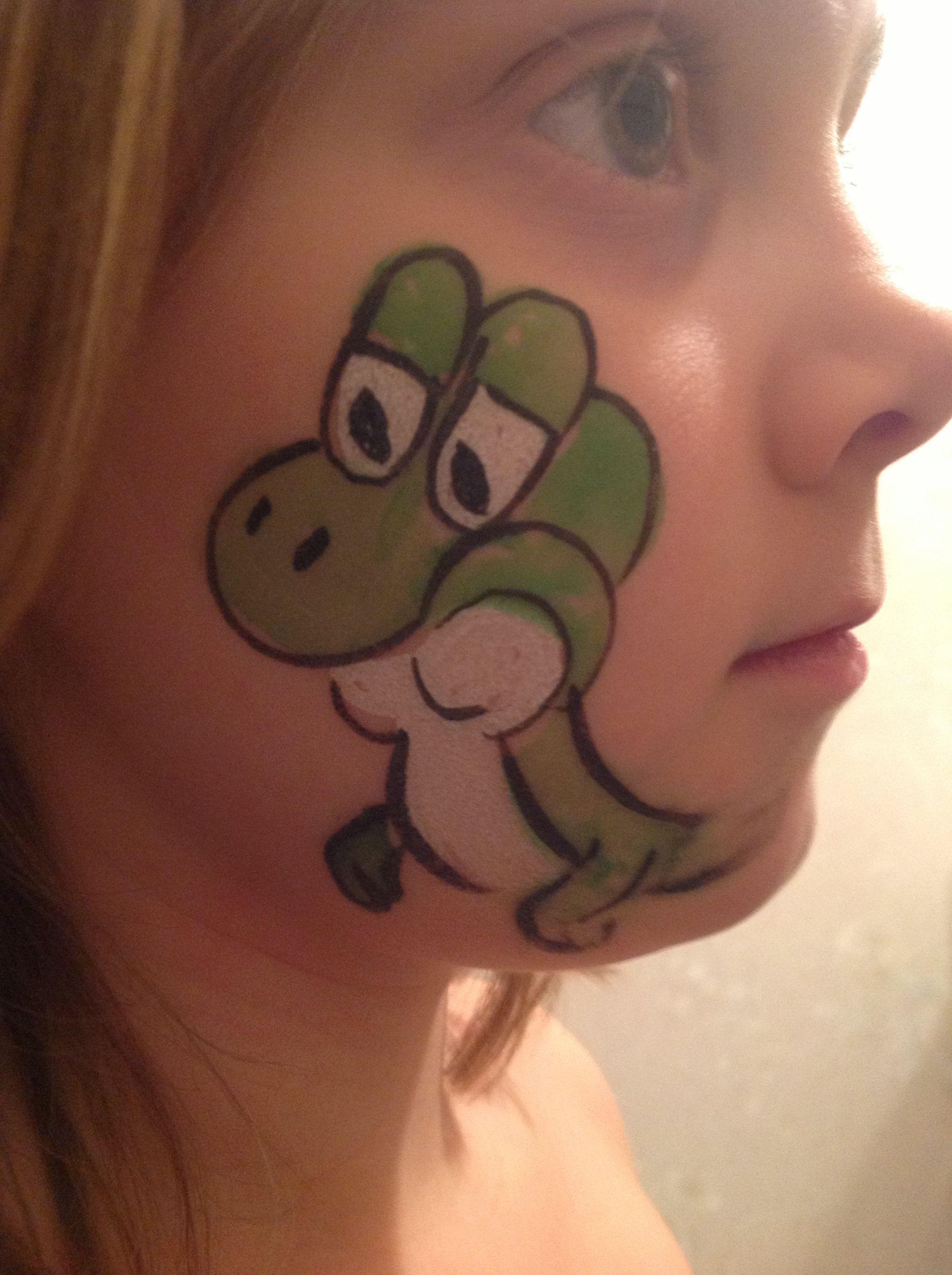 Yoshi Face Paint | Cool | Pinterest | Yoshi