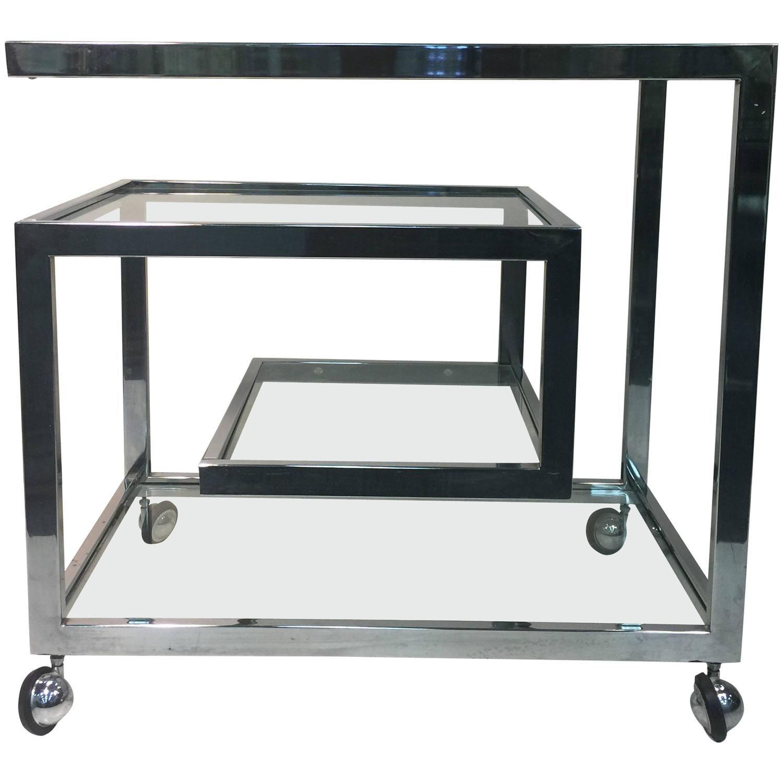Inspirational Milo Baughman Bar Cart
