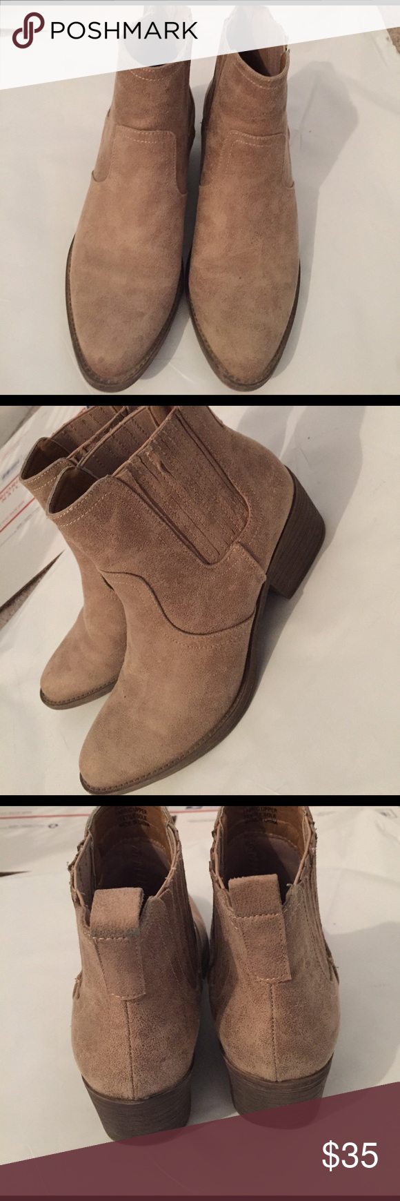 Booties Worn once. Great shape Volatile Shoes Ankle Boots & Booties