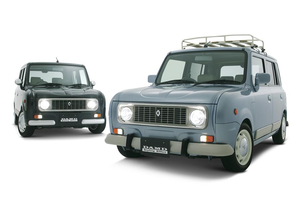 Ancel Lapin Suzuki エアロパーツ ドレスアップのダムド Damd Inc ルノー4 ラパン カスタム かわいい車