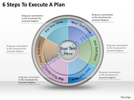 Business Ppt Diagram  Steps To Execute A Plan Powerpoint