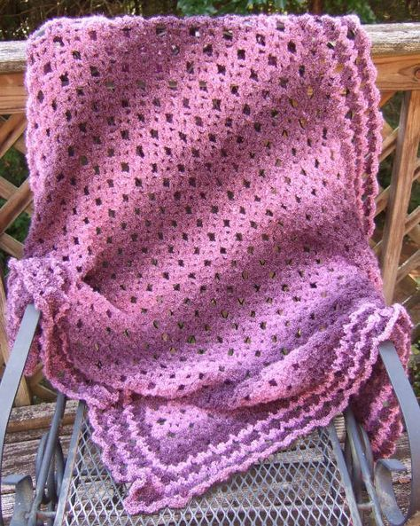 Free Crochet Pattern No Beginning Chain Diamond Lace Throw This