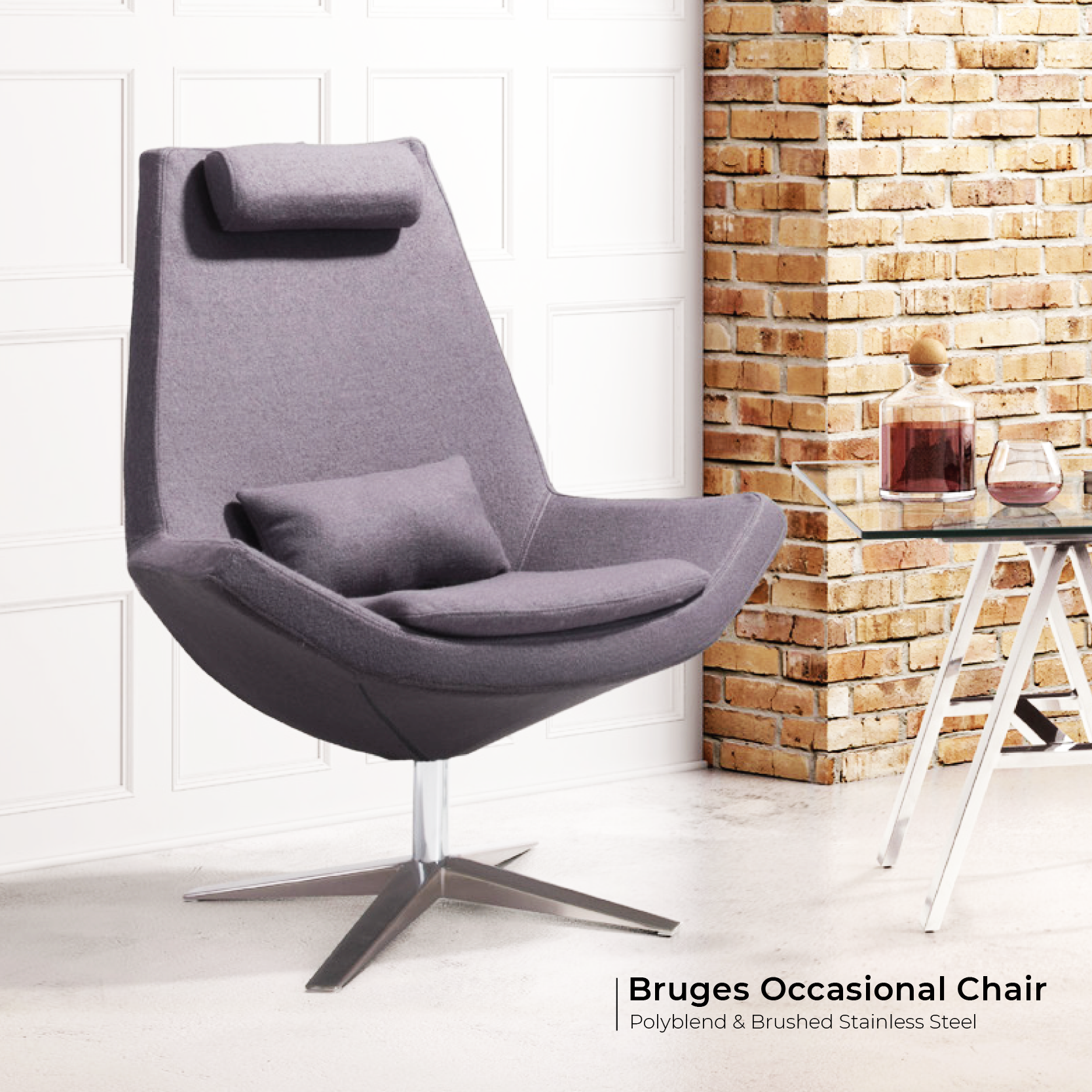 Bruges Occasional Chair Charcoal Gray Occasional Chairs Outdoor