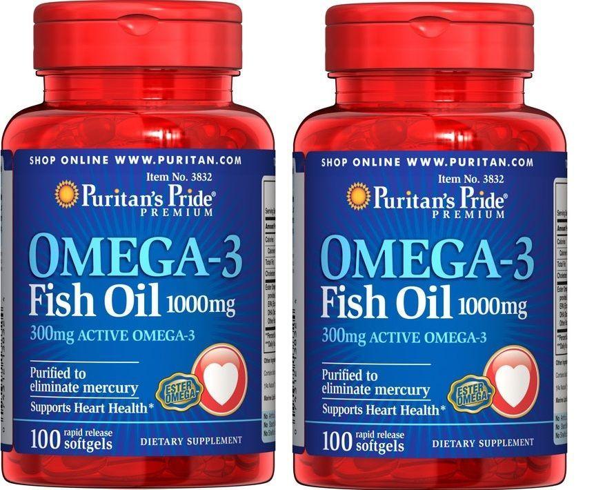 Puritanu0027s Pride Omega-3 Fish Oil 1000 mg - 200 Softgels (2 Bottles - fresh primal blueprint omega 3