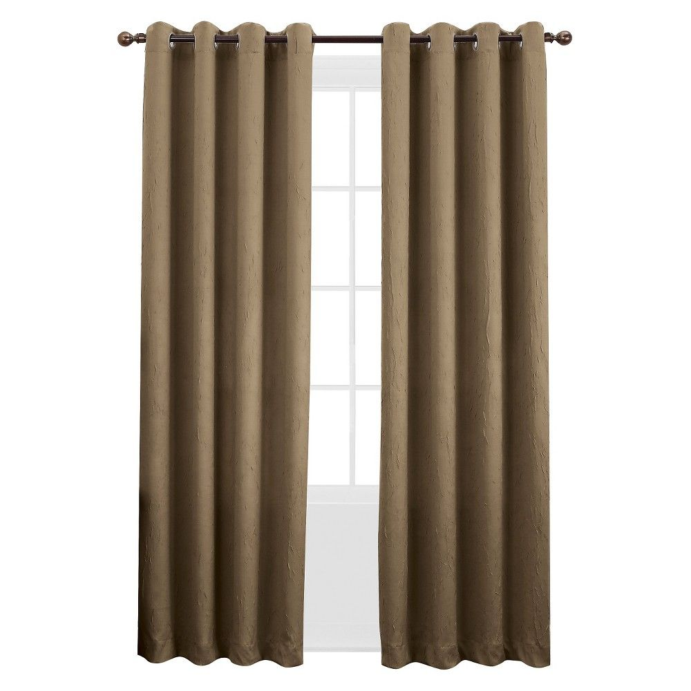 Sun Zero Gunther Crushed Room Darkening Curtain Panel 50