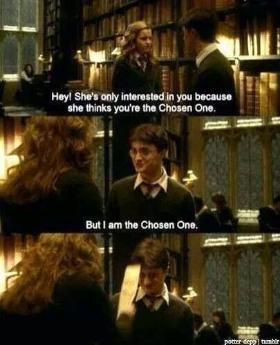 But I Am The Chosen One Harry Potter Funny Harry Potter Hermione Harry And Hermione