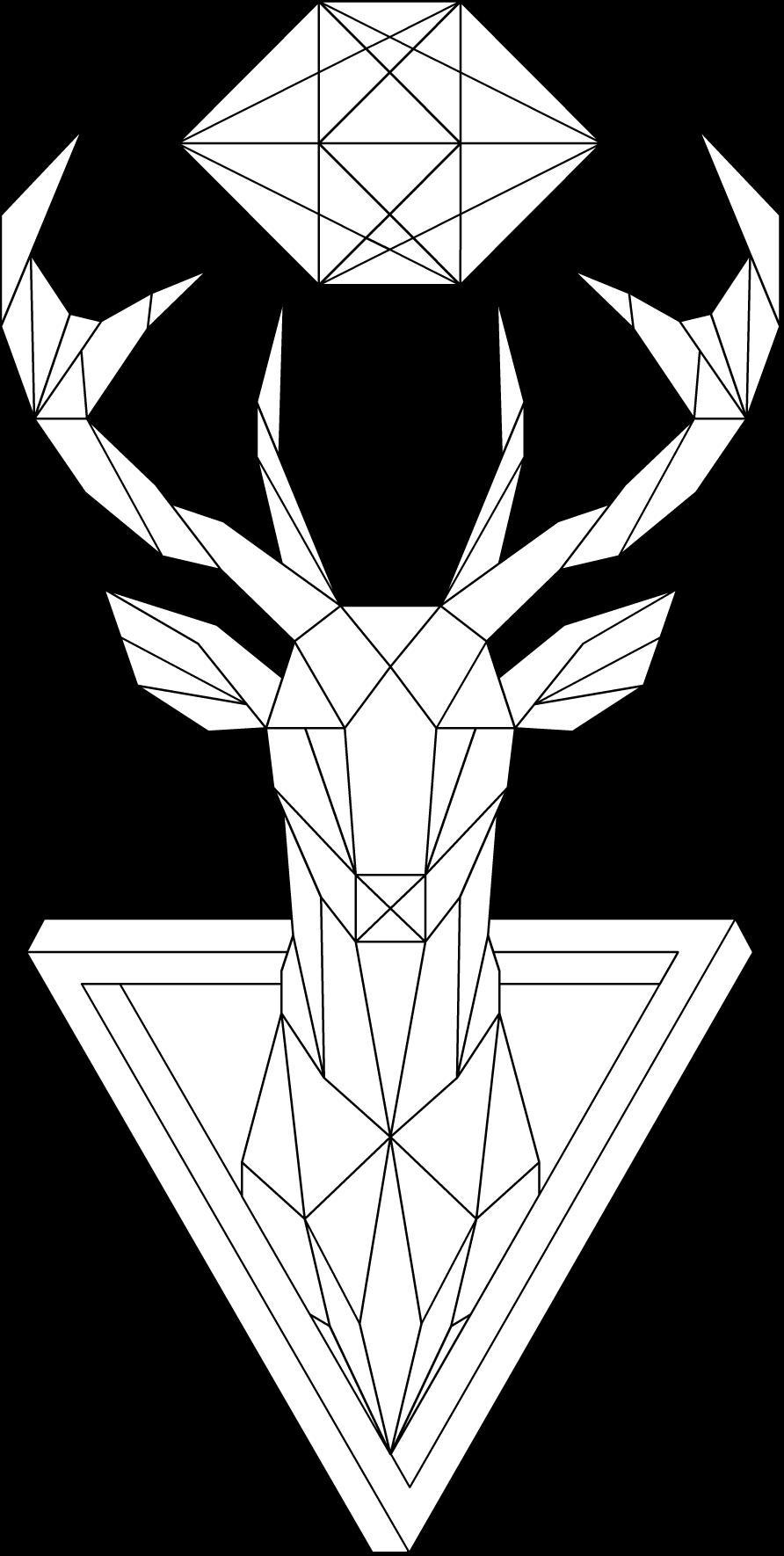 Geometric Deer 2 By Mrdrawing On Deviantart Taslaklar En