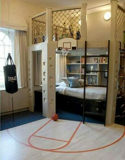 Basketball bedroom!!!!! I want this so bad!!!!!!!!!!!!!!!!!!! so cool!!!!!!!!!!love it!!!!!!!!!!