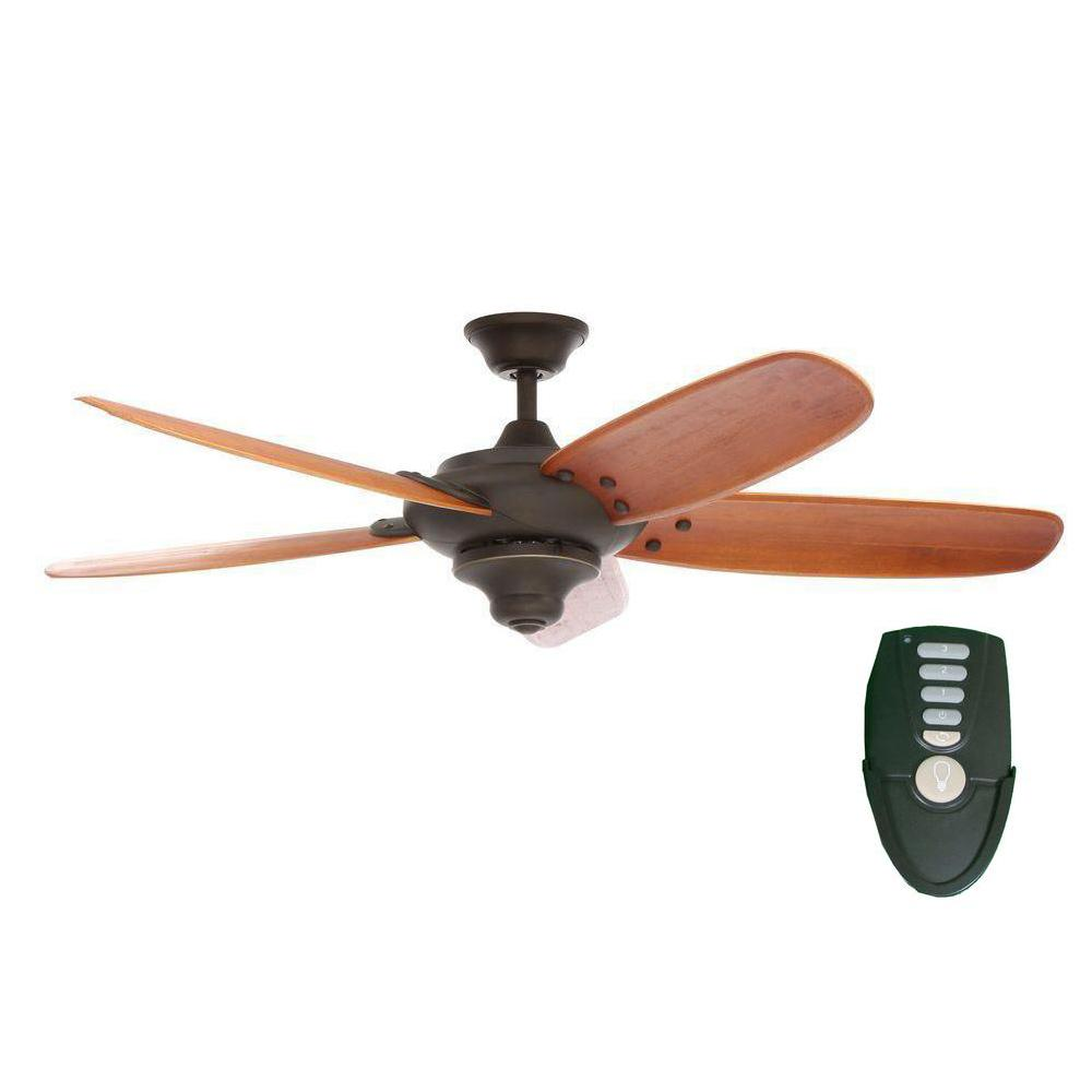 Home Decorators Collection Altura 56 In Indoor Oil Rubbed Bronze Ceiling Fan With Remote Control 26655 Ceiling Fan With Remote