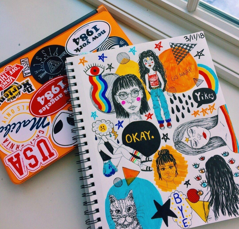 pinterest: @yourgirlkin | Sketch book, Art journal ...
