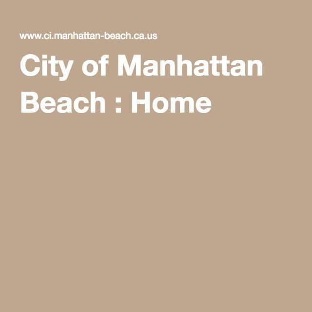 City of Manhattan Beach : Home