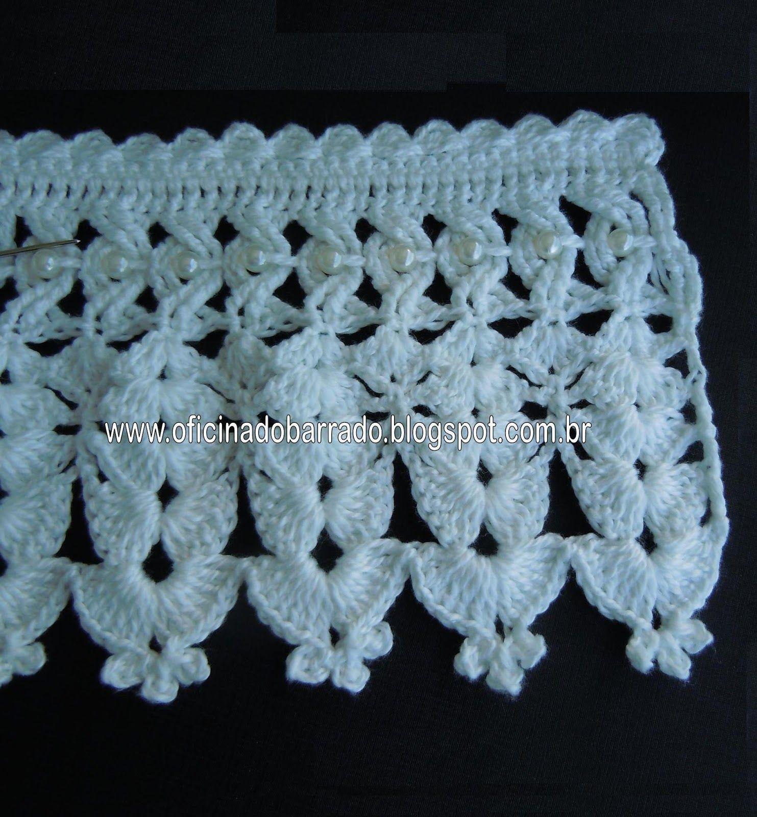 Oficina do barrado croche pap barrado perolas entrelaadas tutorial crochet edging with intertwined pearls bankloansurffo Gallery