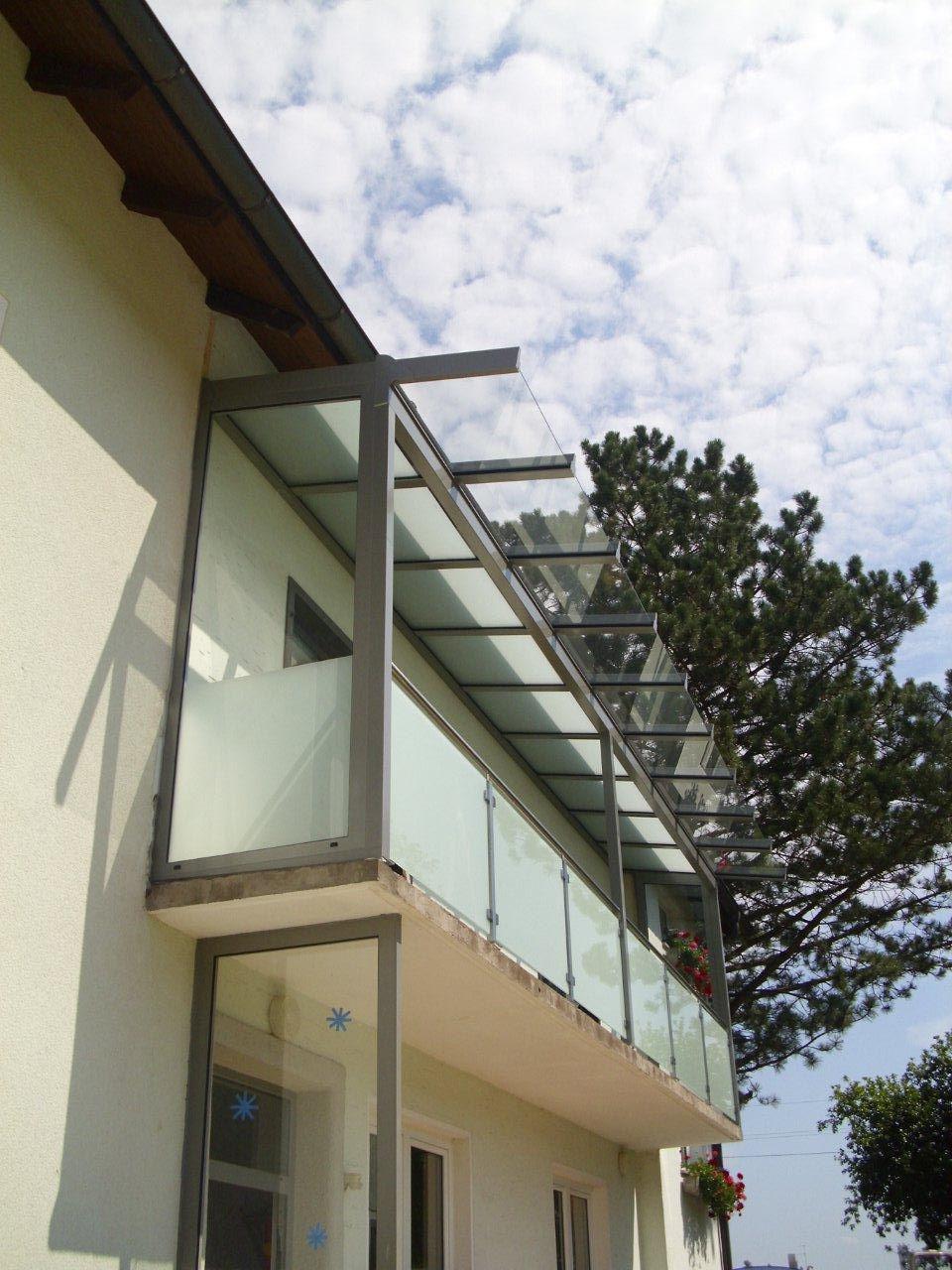 Balkon Uberdachung Alu Glas Umbau