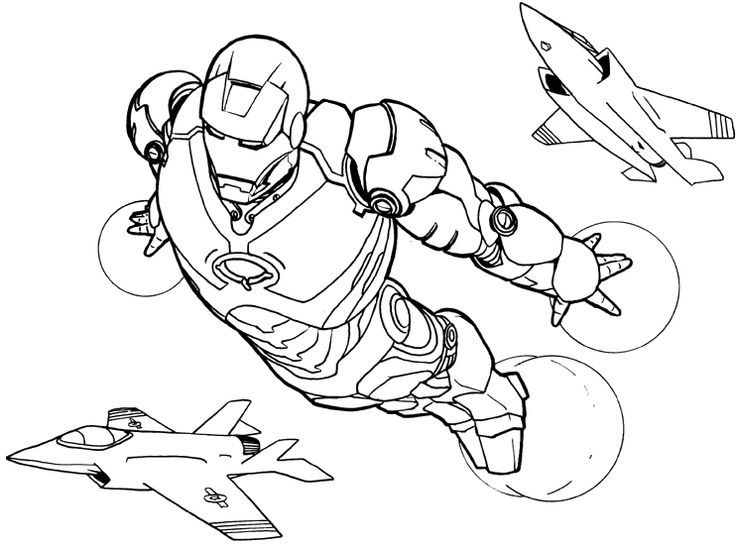 Super Heroes Coloring Iron Man Flying Coloring Pages Iron Man