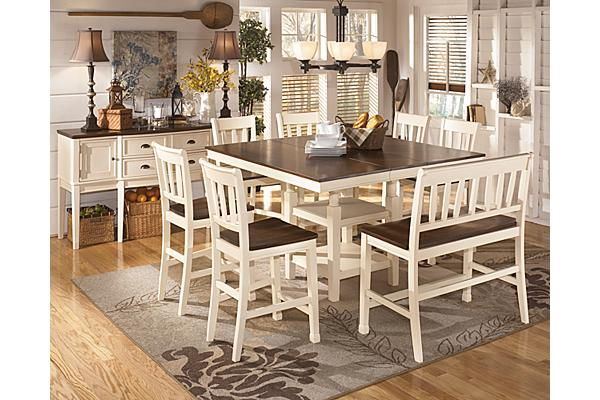The Whitesburg Counter Height Dining Room Table From Ashley