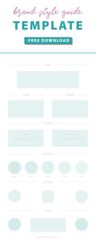 Your Brand Style Guide Template Awaits Editable In Adobe Ilrator Or Indesign Perfect For