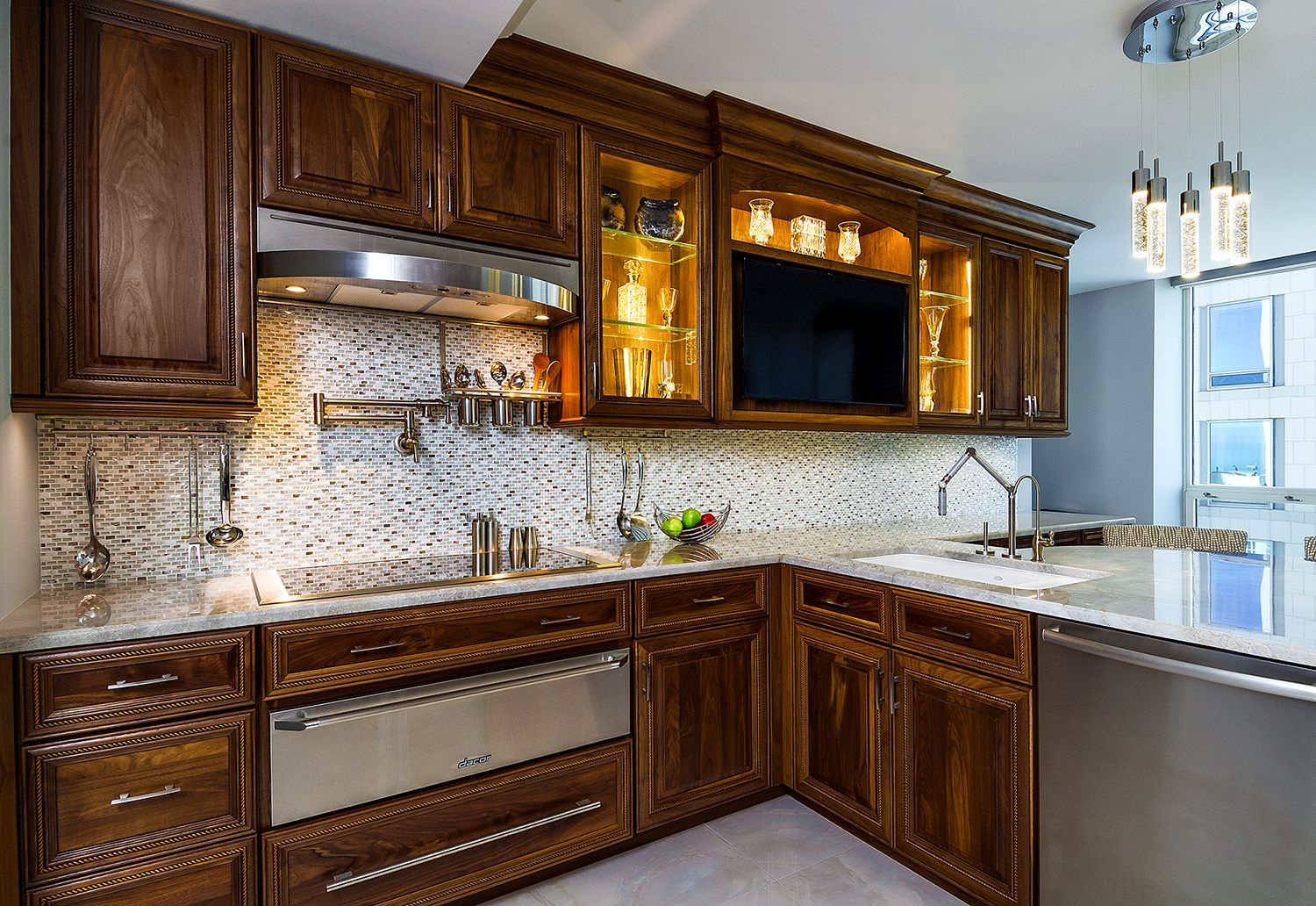 Custom Walnut Cabinetry By Amber Golob And Marta Decapri Of Studioarmadi Walnut Kitchen Cabinets Interior Design Chicago Custom Cabinetry