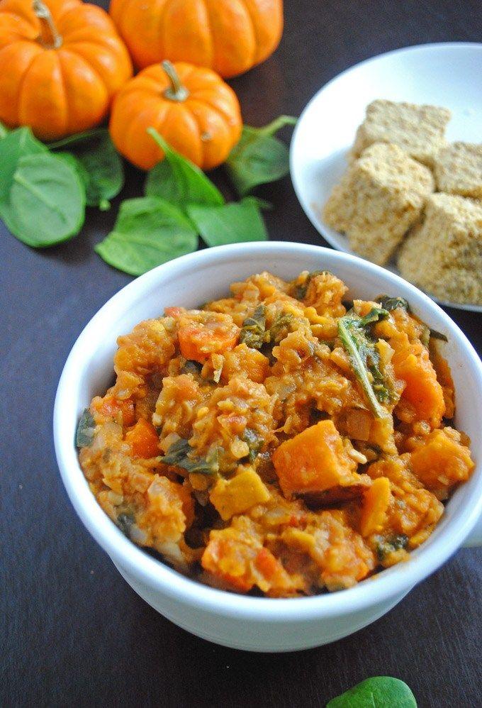 Red Lentil, Sweet Potato, and Carrot Vegan Chili |