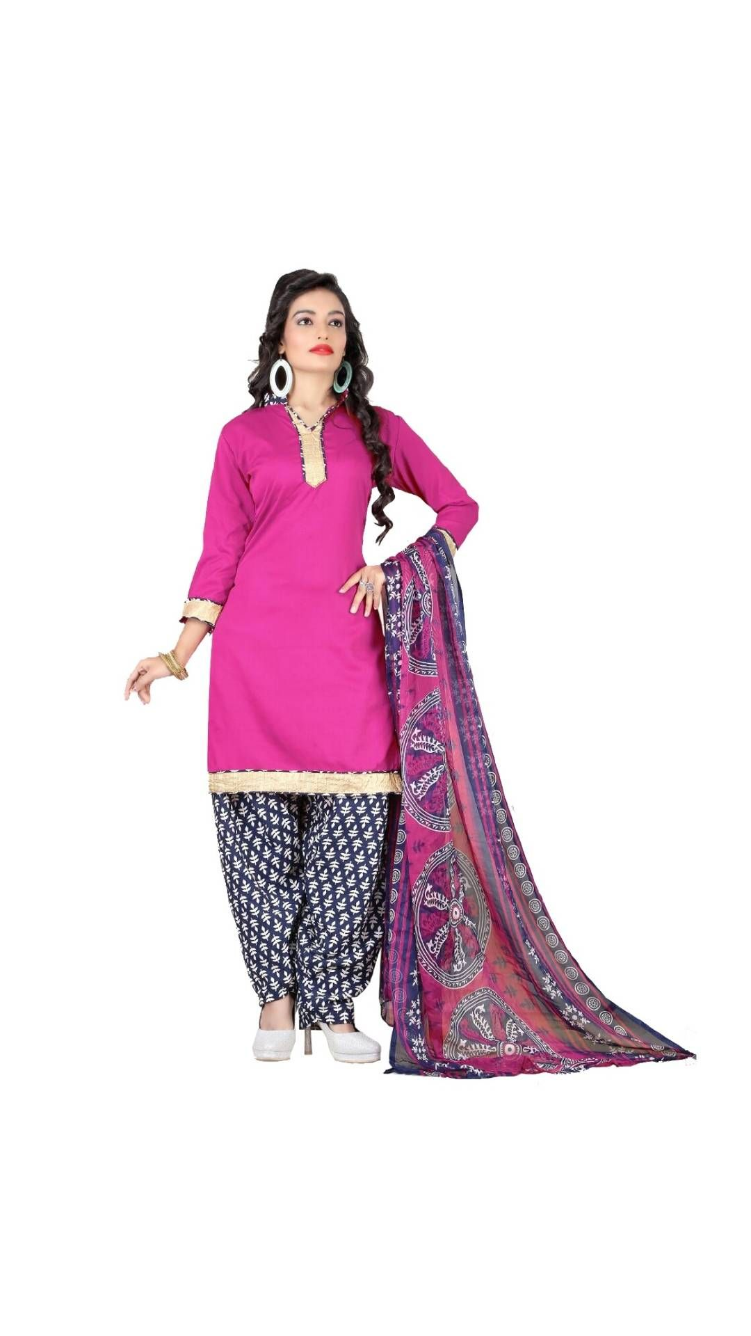 5bf0b6474d Paytm.com - Buy Sahari Designs Women's Pink Cotton Dress Material -  Unstitched online at best prices in India on Paytm.com