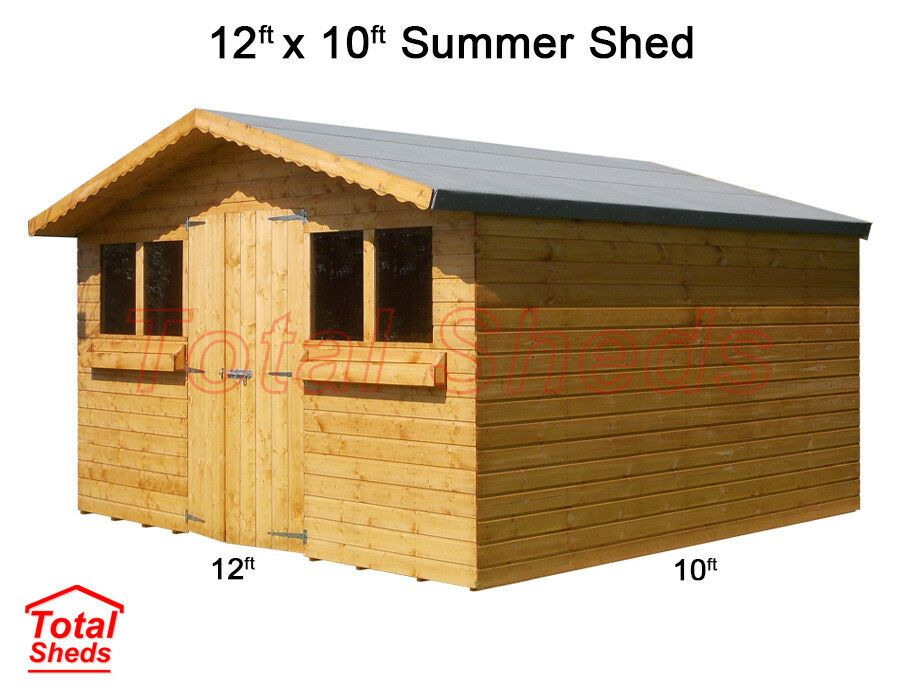 12ft X 12ft Shed In 2020 With Images Shed Building A Shed Summer House Garden