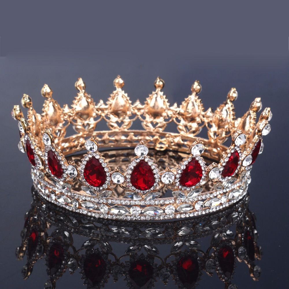Crowns full circle round tiaras rhinestones crystal wedding bridal - Cheap Crown Lift Buy Quality Tiara Veil Directly From China Tiara Hair Suppliers 2015
